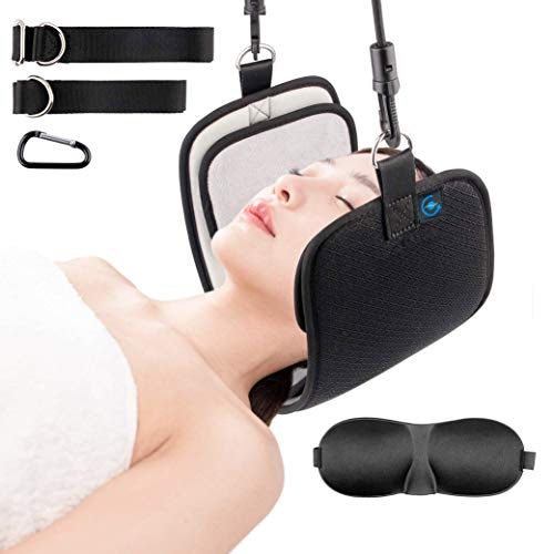 NeckRESET Cervical Traction Head Hammock for Neck Pain | Physical Therapy Sling for Improving Circulation, Relieving Tension, Stretching Muscles, Supporting Posture ()