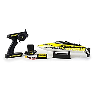 "Atomik RC Barbwire 2 - The Fastest High Speed RC Boat For Adults - Reaches 30 MPH! | Self Righting, 17"" Remote Control Boat 