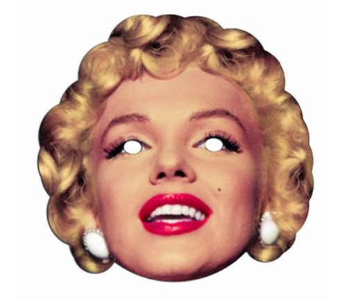 Star Cutouts Printed Card Mask of Marilyn -