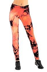 Margarita Activewear Fuego Batik Tie Dye Hot Pant