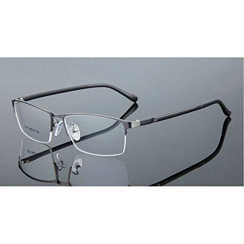 ca4f8426cd Fashion Progressive Multi-Focus Classic Square Half Frame Men Reading  Glasses Adjustable Vision (Grey