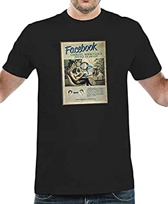 IngraveIT Black Cotton Round Neck T-Shirt For Men