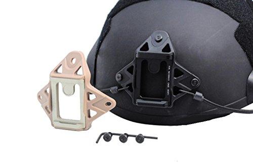 LIVIQILY NEW Aluminium Tactical Helmet Accessories Vas Shroud W/ 3-Hole Pattern Fit ACH, MICH, PASGT Lightweight Marine Helmets NVG Mount (Tan) by LIVIQILY