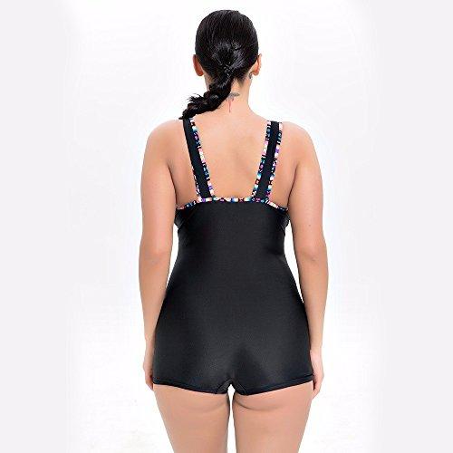 Costume GK Bagno nero bagno sport Bikini donna donne delle Timbro da Swimsuit Set da Bikini Bikini Siamese bagno costume black da costume rqwxznRPar