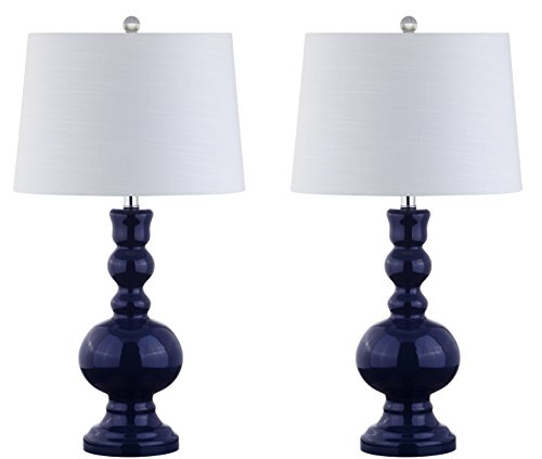 JONATHAN Y JYL1061E-SET2 Genie Glass Table Lamp, 28.5