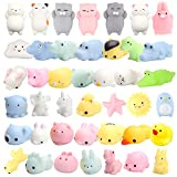 WATINC 30 Pcs Cute Animal Squishy, Kawaii Mini Soft Squeeze Fidget Hand Toy for Kids Gift,Stress Relief,Decoration