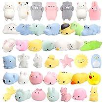 WATINC 30 Pcs Cute Animal Squishy, Kawaii Mini Soft Squeeze Toy Fidget Hand Toy for Kids Gift,Stress Relief Decoration