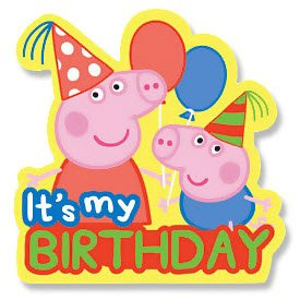 Peppa Pig Birthday Badge Amazon Co Uk Kitchen Amp Home