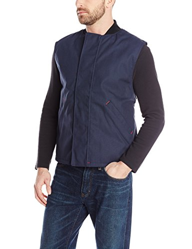 Red Kap Uniforms Men's Blended Duck Insulated Vest, Navy ...
