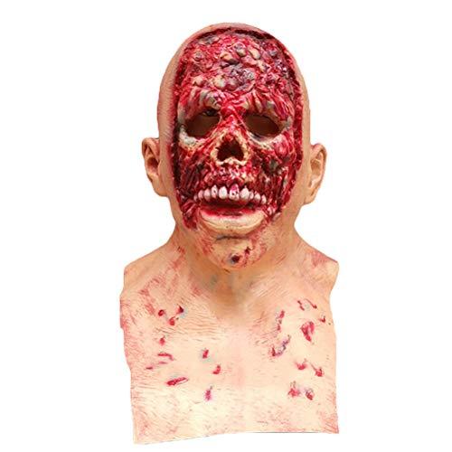 BESTOYARD Halloween Scary Latex Masks Zombie Cosplay Mask Scary Halloween Costumes Halloween Party Supplies Favors -