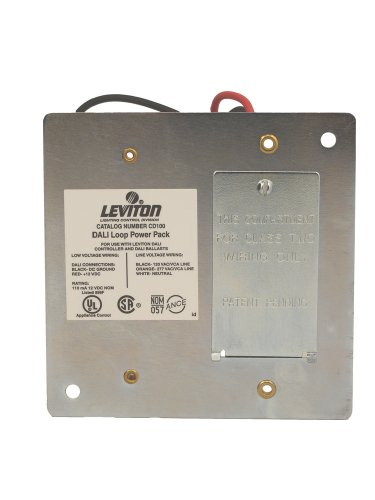 Leviton CD100-D0 Dali Loop Power Pack, For Use With Dali Compatible Dimmer Input Voltage: 120/277 VAC +/-10% & Output Voltage: 12 & Output Current: 110ma, (Dali Dimmer)
