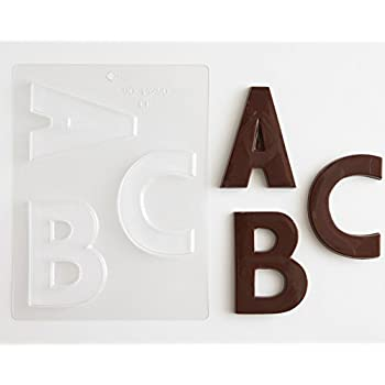 Amazon.Com: Large Block Letters Chocolate Candy Molds - A - Z (8