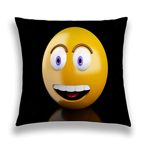 grr4ssd456 Throw Pillow Cover Pillowcase d Emoji Icons Facial Expressions Social Media Concept Creative Sofa Home Decorative Cushion Case 18