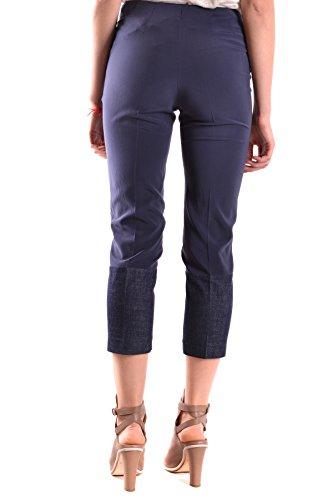 Brunello Cucinelli Mujer MCBI053038O Azul Seda Pantalón