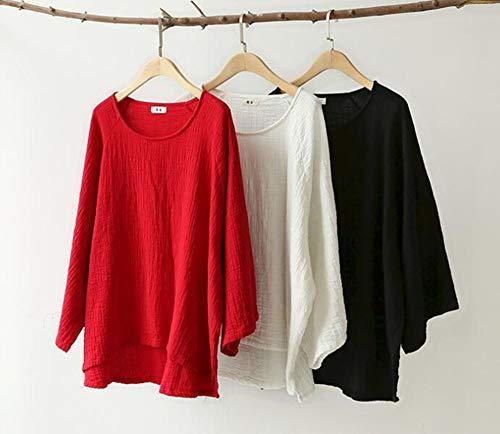 5 Décontracté Haut Huateng Lin Pantalon facultatif Cardigan Long Red En Pour Femme F5qP5Y