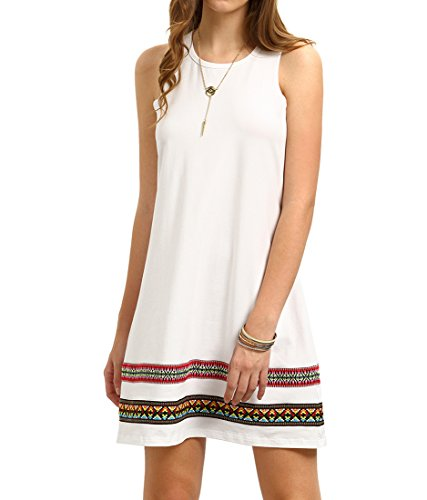 Romwe Womens Sleeveless T Shirt Dresses