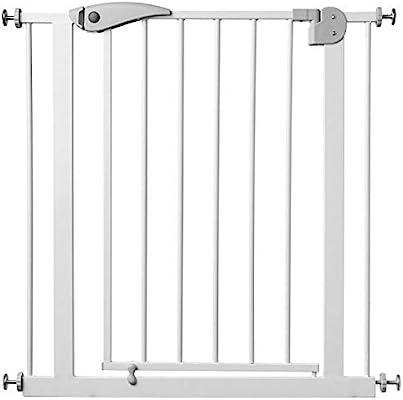 Babify Barrera de Seguridad de niños para puertas y pasillos con cierre automático- color blanco: Amazon.es: Bebé
