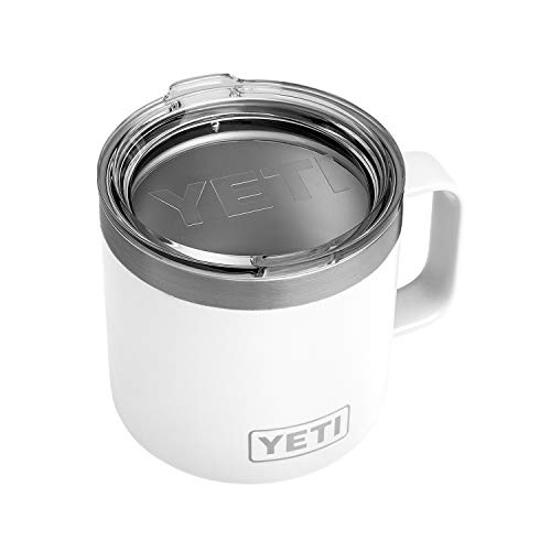 YETI Rambler 14oz Mug, White (Best Coffee Mugs For Work)