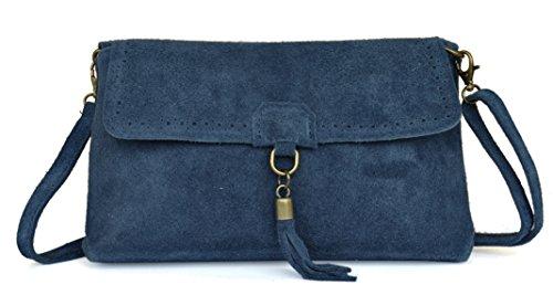Veau 27 Type In Sac l h Fabriqué Pochette Italie Bleu Velours 17 Cuir e Cm Lae Pompon Façon 7 Et X Jeans En Poinçon Derby z6nqCxg