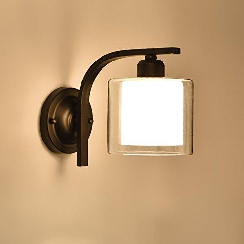 Weiß YYHAOGE Das Wohnzimmer Lampe Wandleuchte Schlafzimmer Nachttischlampe Flur Treppen Beleuchtung 14  20 Cm Lampe, Weiß