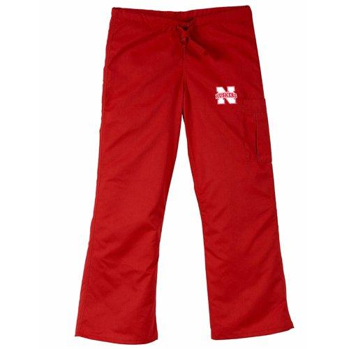 - Nebraska Cornhuskers Ncaa Cargo Style Scrub Pant (Red) (2X Large)
