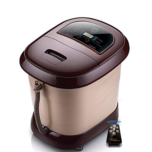 Comfortology Leak-Proof Foot Spa Massager With Rolling Massage, Heat Wave, O2 Bubbles, And Infrared Light Therapy, Foot Soaking Tub With Handle And Large Screen Display