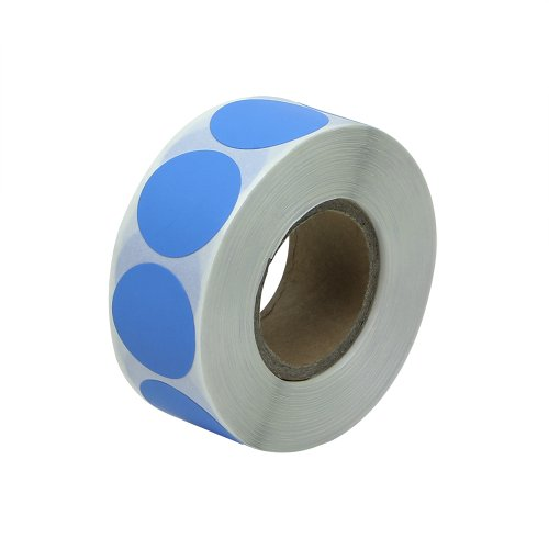 "Light Blue - 3/4"" Round Circle Color Code Dot Inventory Labels Stickers - 300 labels per roll - 1 roll"