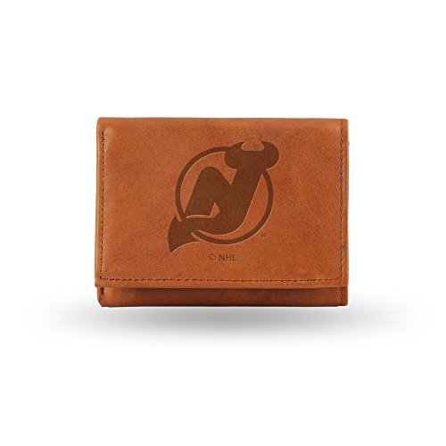 NHL New Jersey Devils Embossed Genuine Leather Trifold Wallet