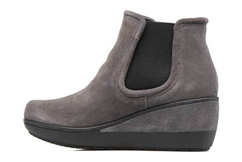 Suede Women's Mara Grey UK Boots Wedge Clarks EU 6 5 39 Ankle Wynnmere gxC0wBUq