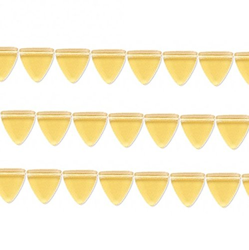 (Czech Triangle Pressed Glass Beads. Preciosa Honey 13x13x13mm 16 Inch Strand)