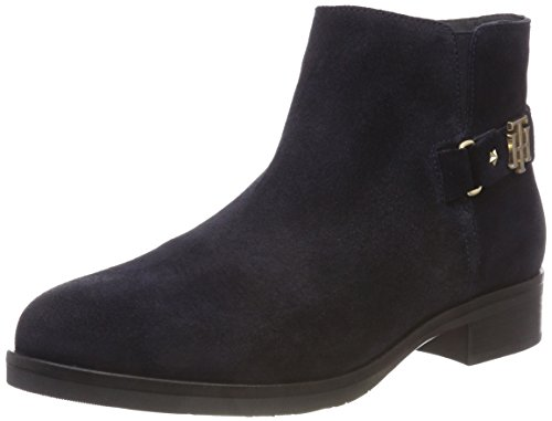 Ankle Suede Buckle midnight Boots Th Hilfiger Blue Bootie 403 Women''s Tommy O6aYpn