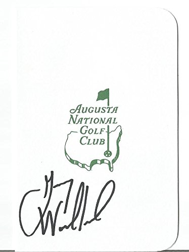 Gary Woodland Pga Golf Star Signed Autograph Masters Scorecard Coa Authentic - Autographed Golf Scorecards