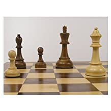 Tournament Staunton Wooden Chess Pieces with 4 inch King