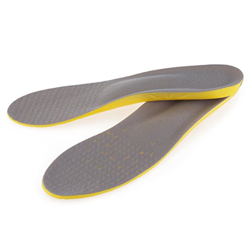 PIXNOR Pair of Orthotic Insoles Unisex Sports Insole Memory Foam Insole - Size L