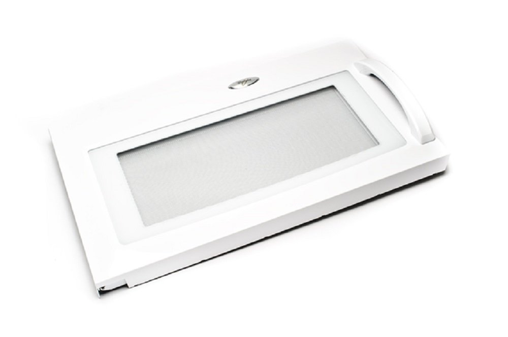 Whirlpool 8206394 Microwave Door Assembly. White