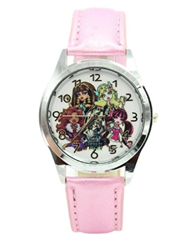 Monster High Group Pink Genuine Leather Band Wrist -