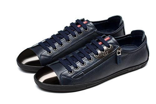 Shoes 6568 Leather in Men's Lace OPP Casual 2blue up TxYFI0qwq