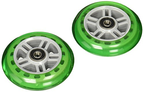 Razor Scooter Replacement Wheels Set with Bearings - Green ()