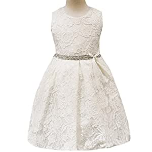 Bebé niña vestido daoroka Kids Flores de Encaje sin mangas con lazo Princess cumpleaños boda fiesta tutú faldas diseño de Leigh Ann Tennant