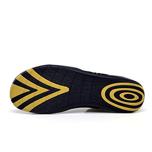 JIASUQI Kinder Damen Herren Quick Dry Aqua Barfuß Sport Wasser Schuhe für Schwimmen, Bootfahren, Segeln, Strand, Yoga, Fahren Gelb