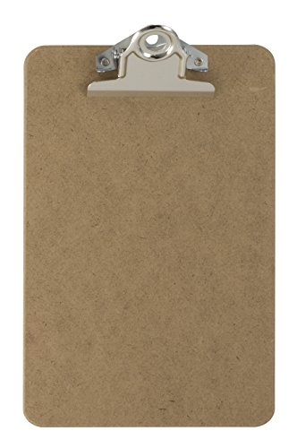 Officemate Recycled Wood Clipboard, Memo Size, 6 x 9 Inch, 3 inch Clip (83103)