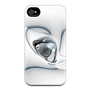 Tpu Cases Covers For Iphone 4/4s Strong Protect Cases - White 3d Design