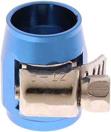 軽量 アルミ合金製 ウォーターラインチューブ クリップ クランプ ホースパイプ フィニッシャークランプ 3カラー選択でき - 青