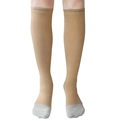 Men/Women Knee High Compression Socks Small Skin