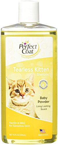 Perfect Coat Tearless Kitten Shampoo, Baby Powder Scent, 10-Ounce