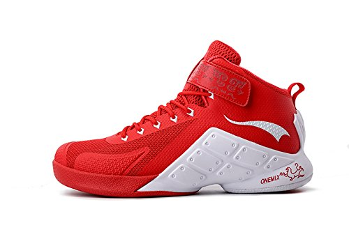 Onemix Men's Basketball Shoes Red White