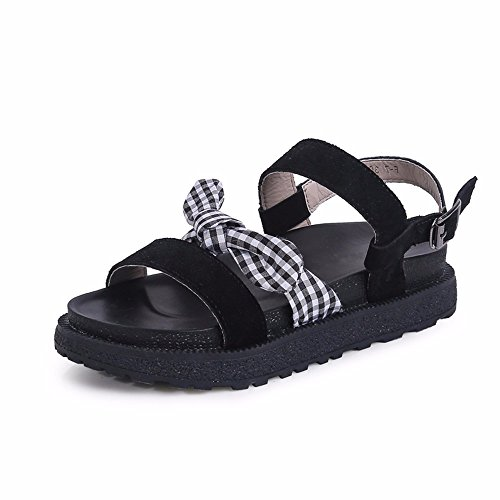 Sandalias UE 34 cómodas Antideslizante Dama Casual Blanda YMFIE 43 Verano 40 Europa Inferior Zapatillas tamaño EU Toe Moda 40 señoras p6PTPqY