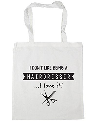 HippoWarehouse x38cm Tote A Beach Bag White Gym Hairdresser Like litres Don't I 10 42cm Being Shopping It I Love Z1xqZrA