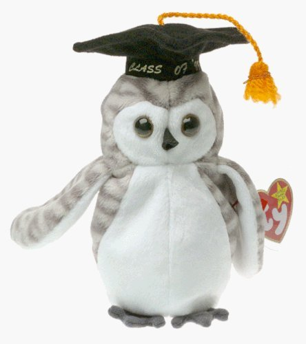 Ty Beanie Babies - Wiser the Owl - 1999 Graduation (Retired) by Beanie Babies