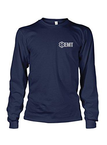 - Fishers Sportswear EMT Reflective Long Sleeve T-Shirt X-Large Navy